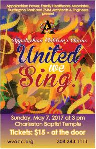 Appalachian Children's Chorus Spring Concert is May 7th