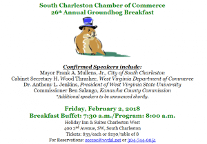 South Charleston Chamber to Host the 26th Annual Groundhog Breakfast & Economic Forecast